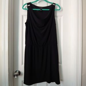 White House Black Market Black Midi Dress Size M